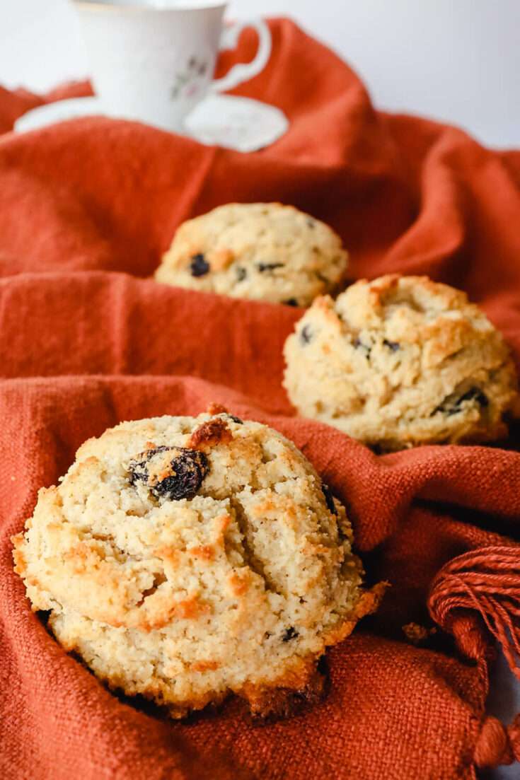 keto rock cakes on a towel