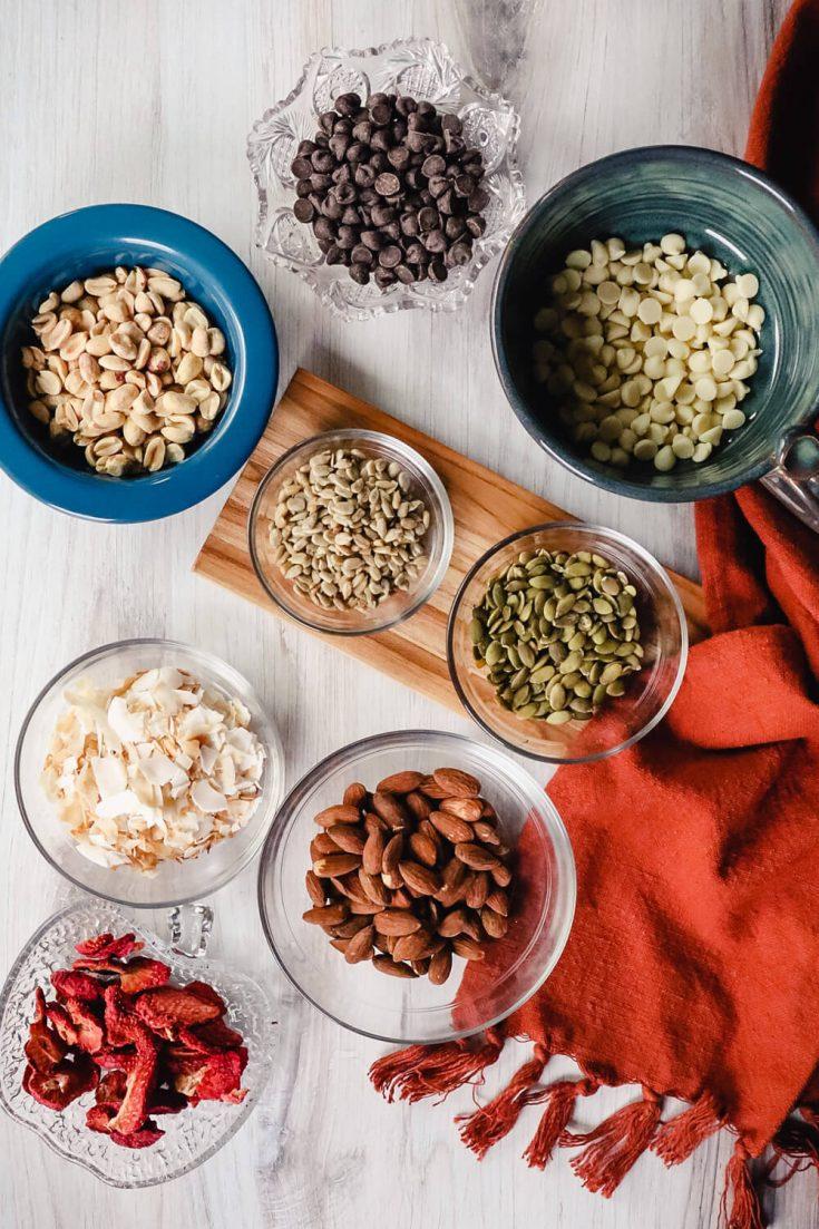 Ingredients in keto trail mix