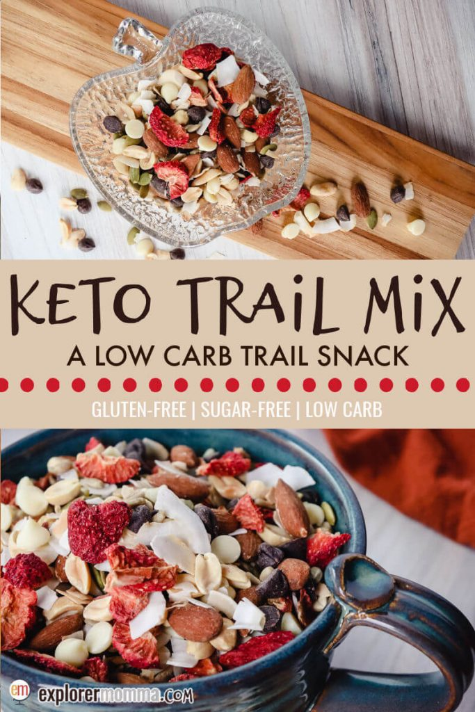 Keto trail mix in a bowl