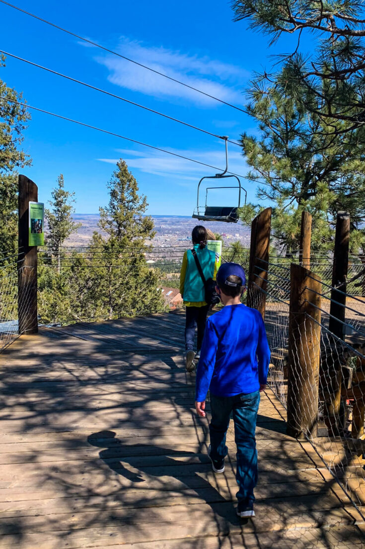 View of the ski lift at the Cheyenne Mountain Zoo