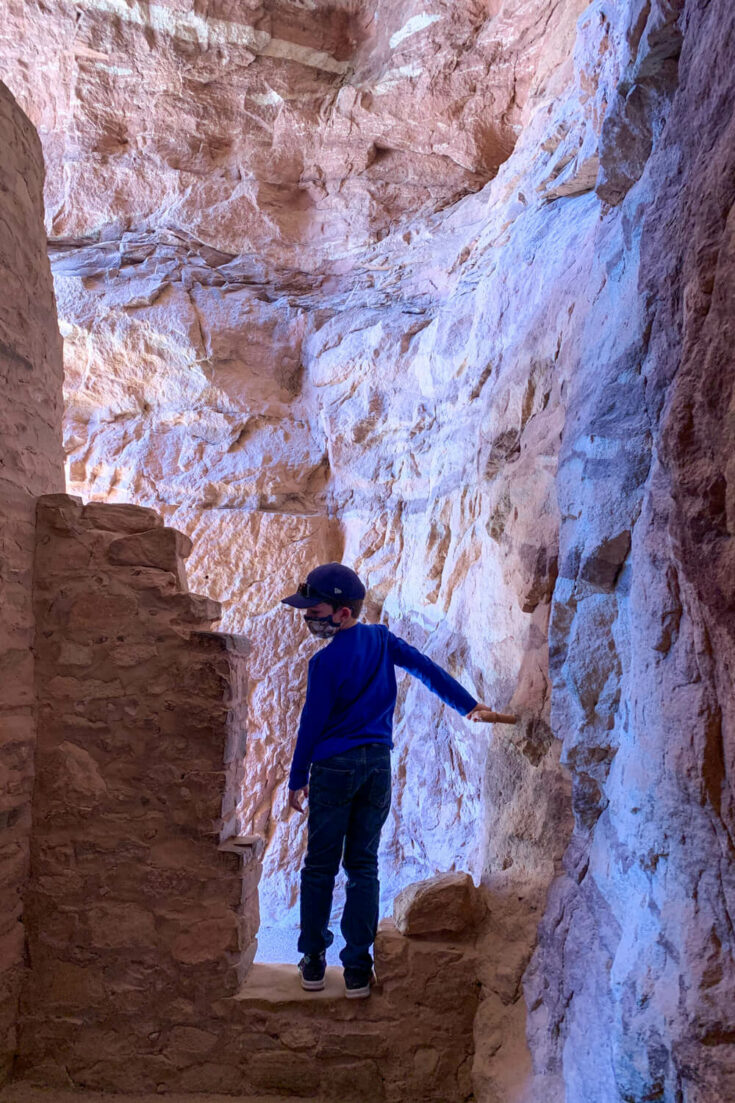 Boy at the Manitou Cliff Dwellings