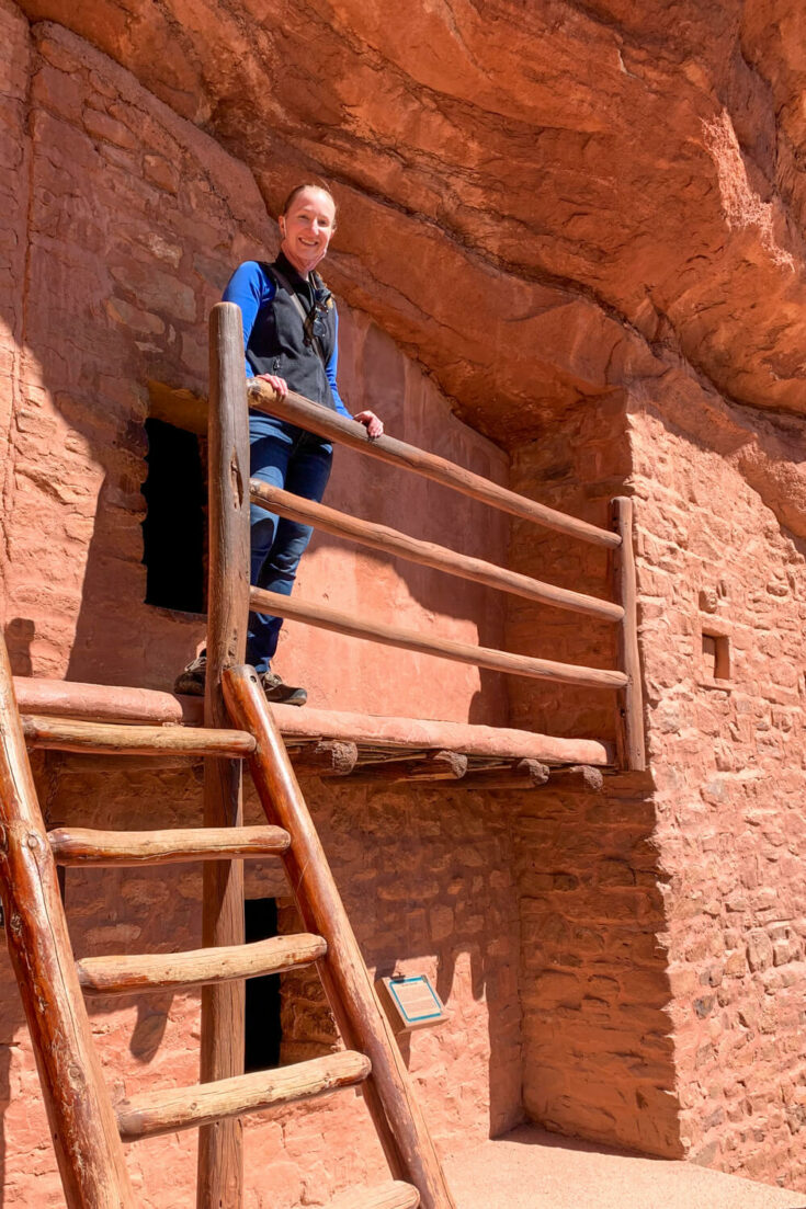 Woman at the Manitou Cliff Dwellings