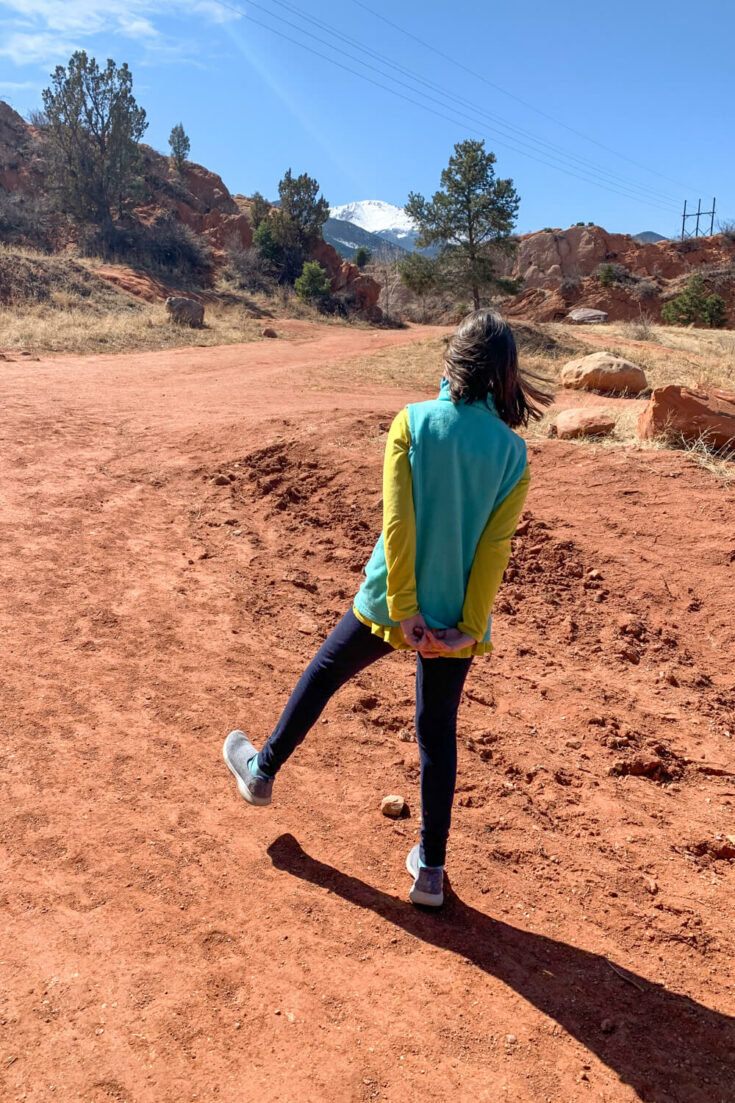 Girl walking at the Red Rock Canyon Open Space