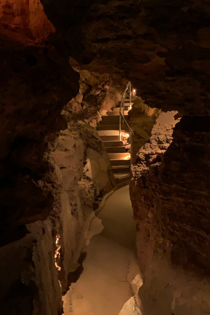 Staircase inside Cave of the Winds
