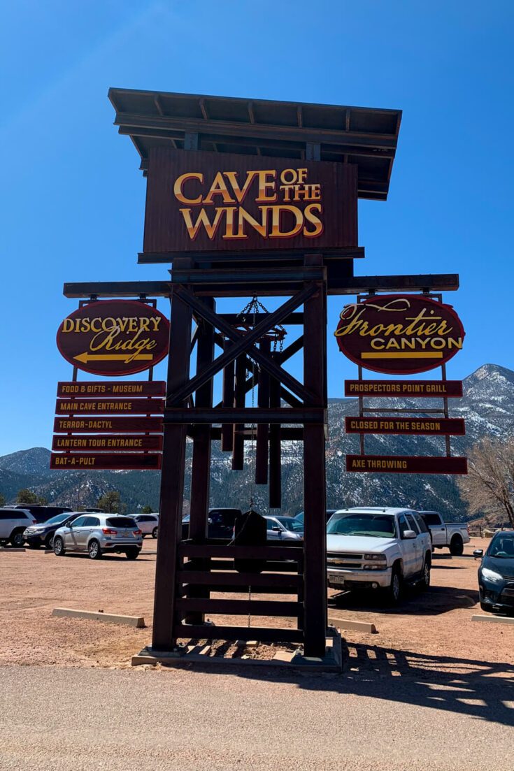 Cave of the Winds sign