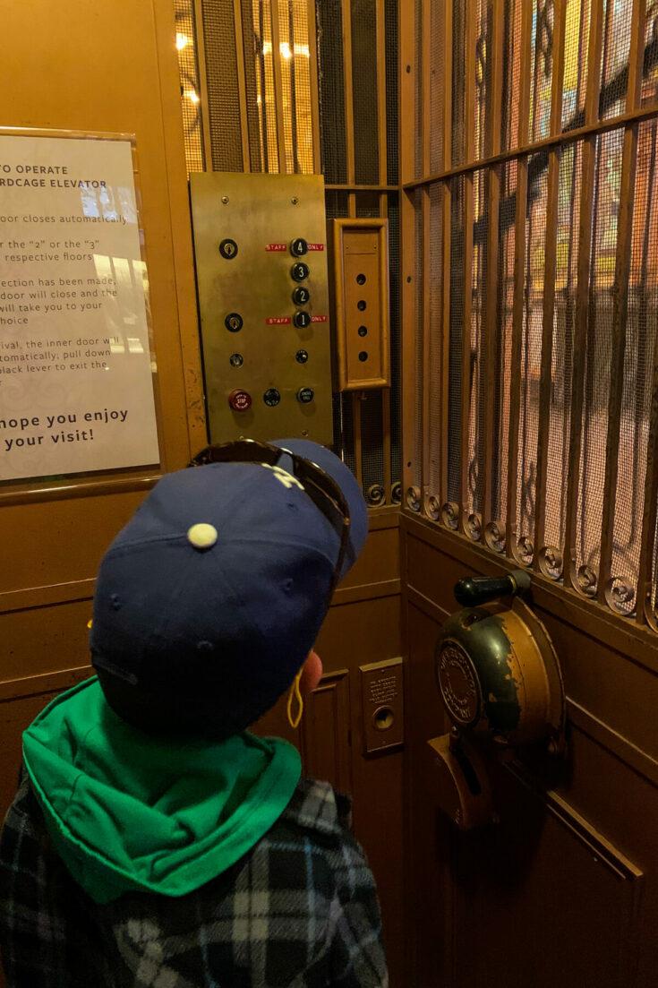 Elevator at the Pioneers Museum