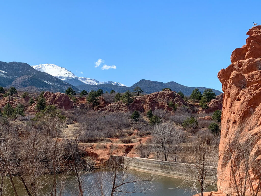 View of the Red Rock Open Space area near Colorado Springs
