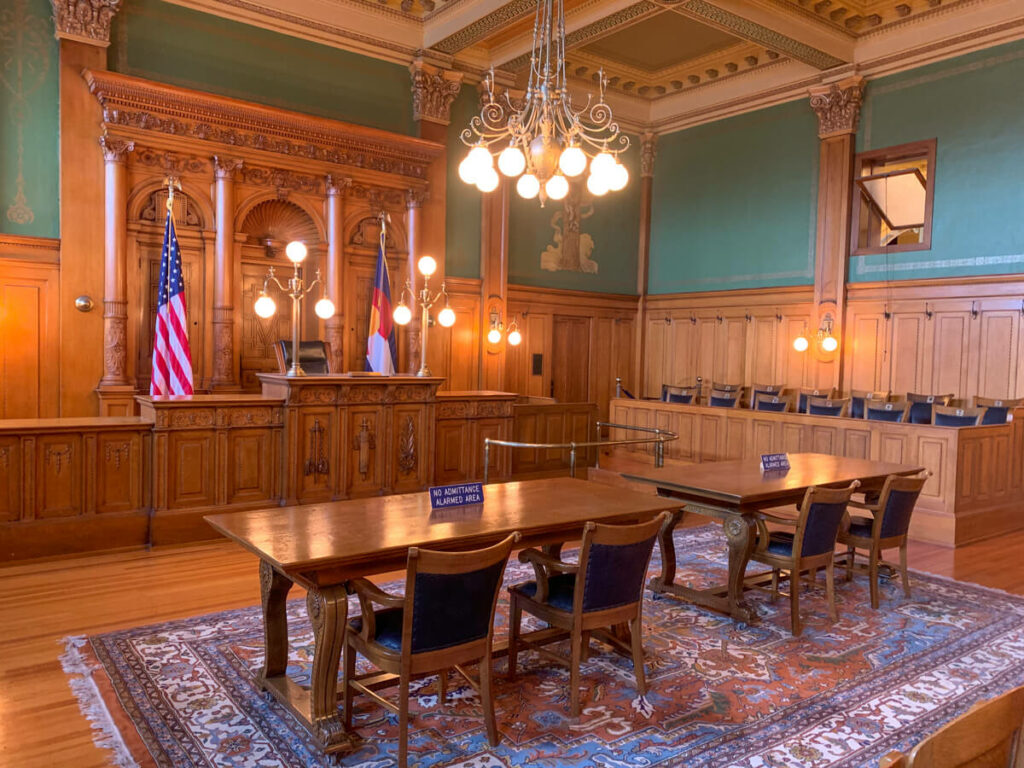 Courtroom at the Pioneers Museum