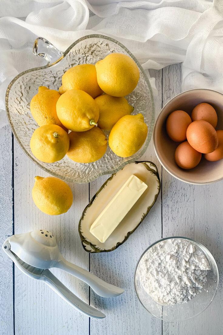 Ingredients in keto lemon curd