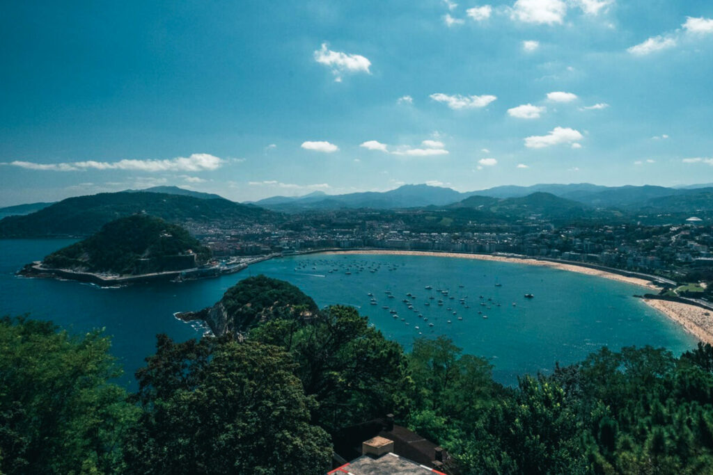 View near San Sebastian Spain