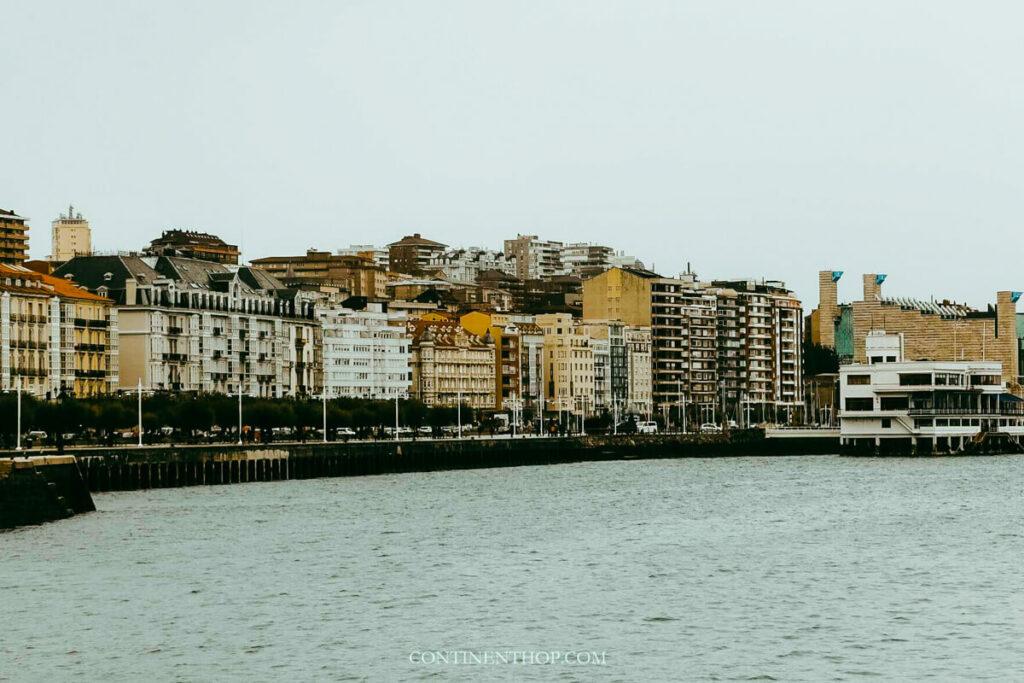 View of Santander Spain waterfront