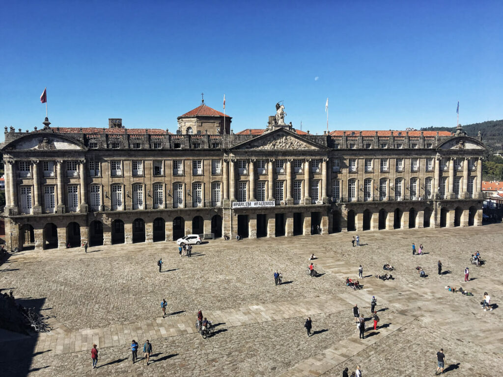 Santiago de Compostela square, Spain
