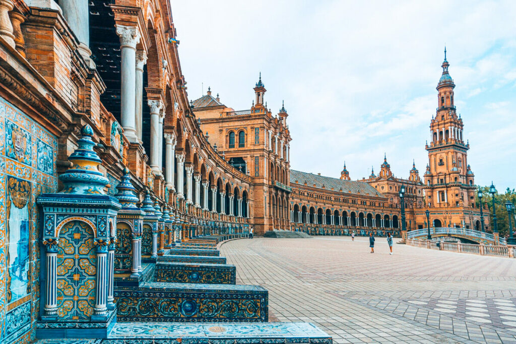 View of a square in Seville, Spain