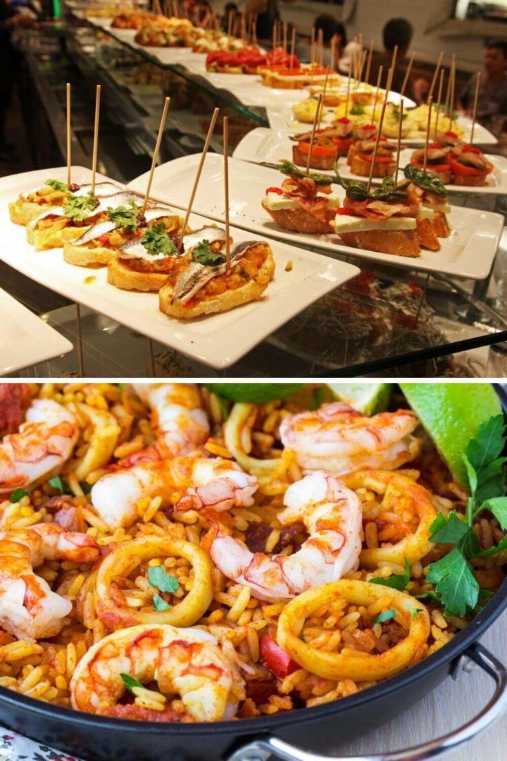 Spanish tapas and paella