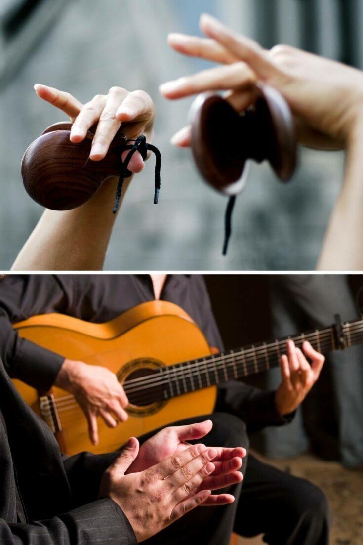 Spanish music, castinets and guitar