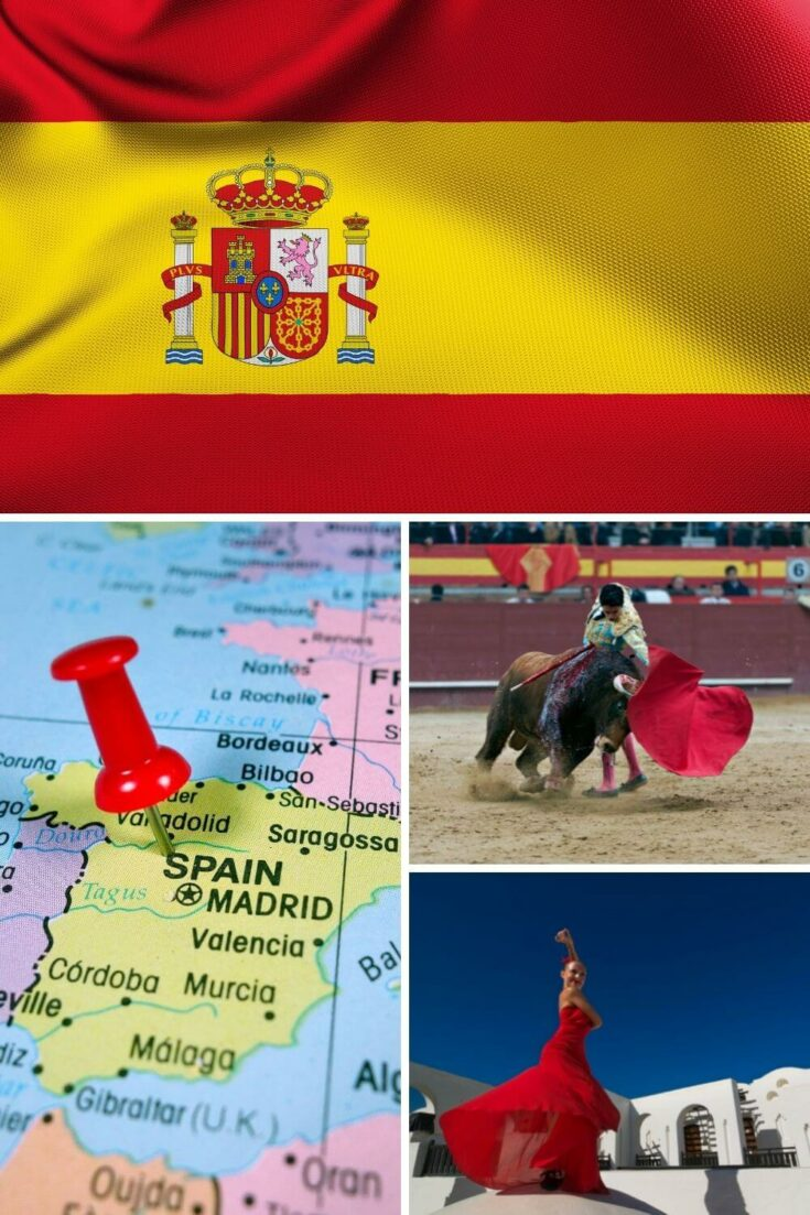 What is Spain known for? Flag, geography, bull-fighting, flamenco
