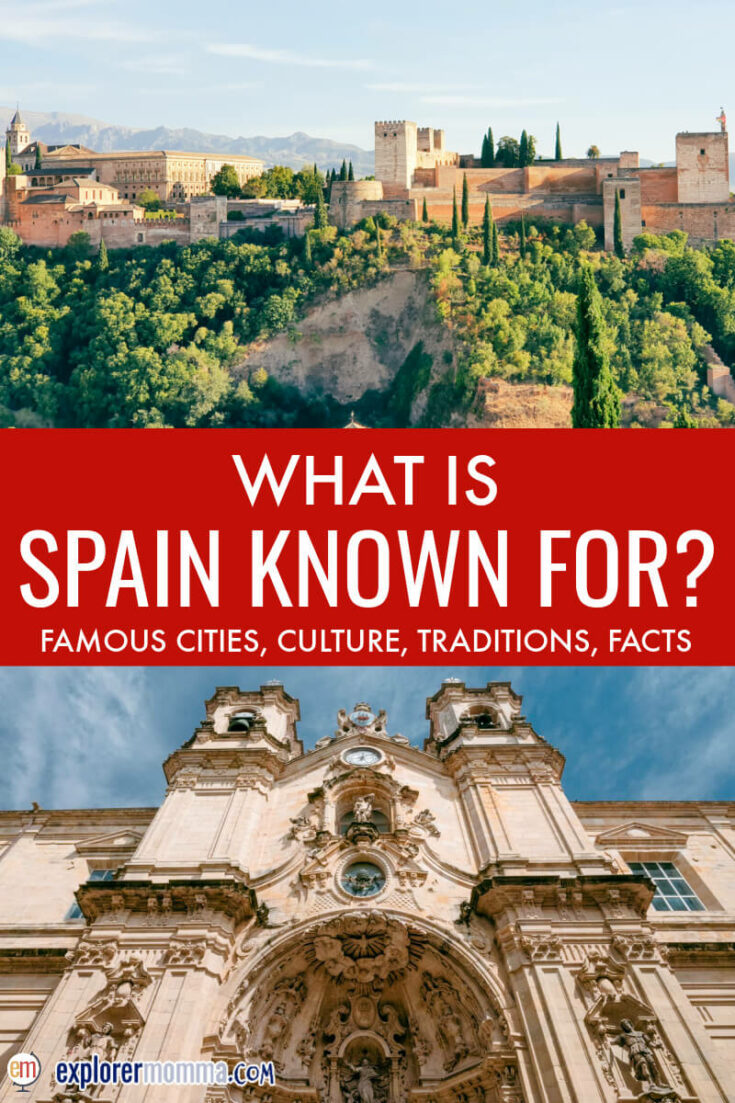 The Alhambra and buildings in Spain