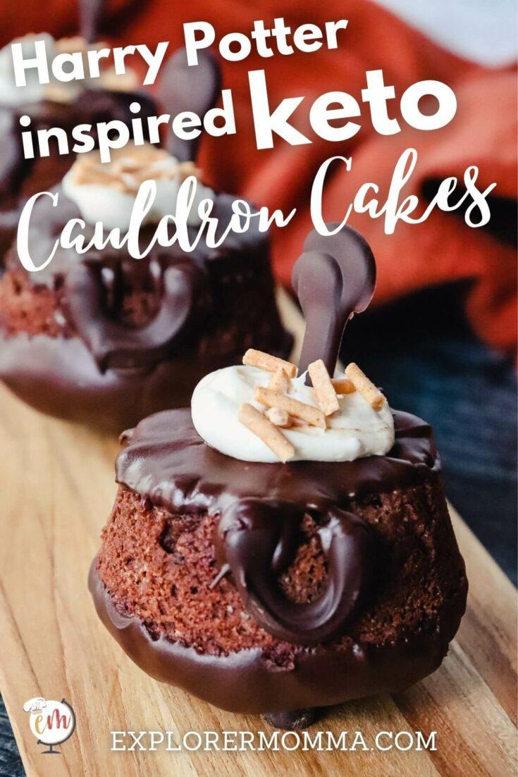 Front view of keto cauldron cakes