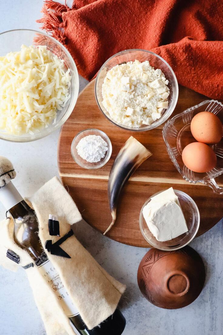 Ingredients in keto khachapuri
