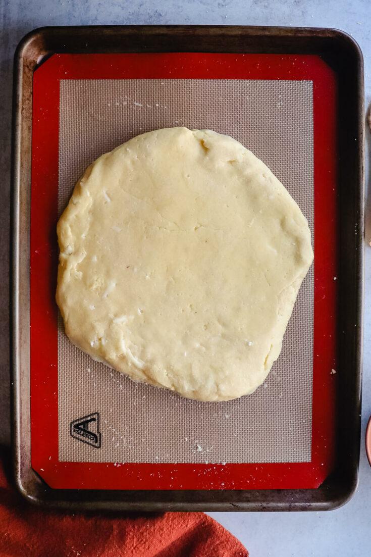 Imeruli keto khachapuri ready to bake