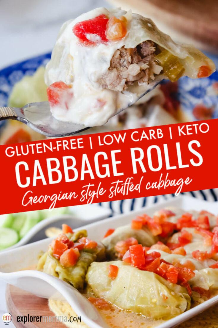 Keto cabbage rolls - Georgian stuffed cabbage
