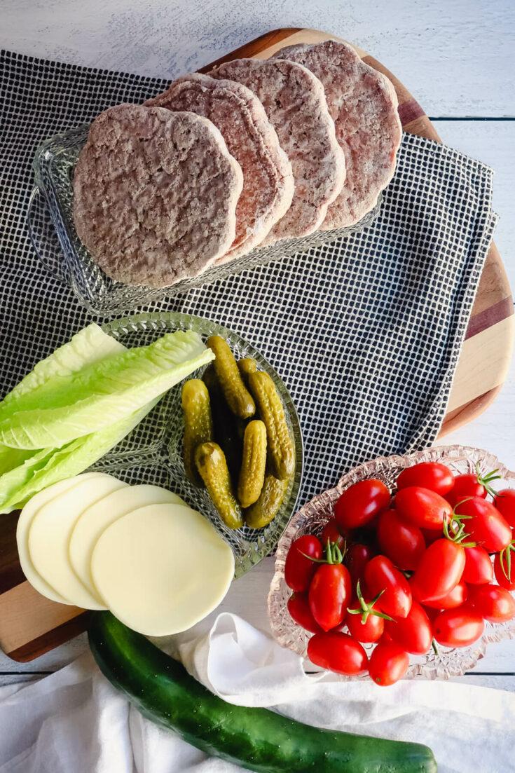 ingredients for air fryer burgers