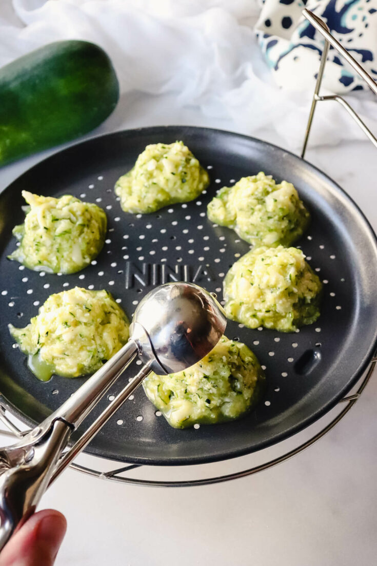 Air fryer zucchini tots to fry