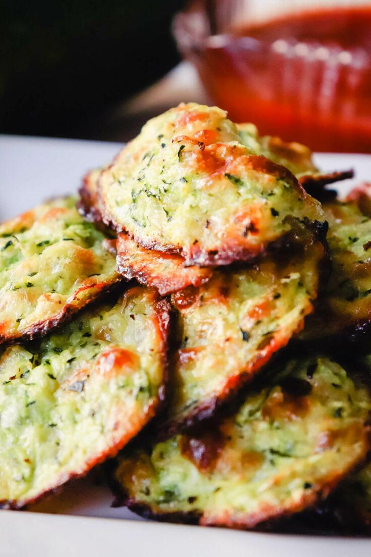 Zucchini bites on a plate