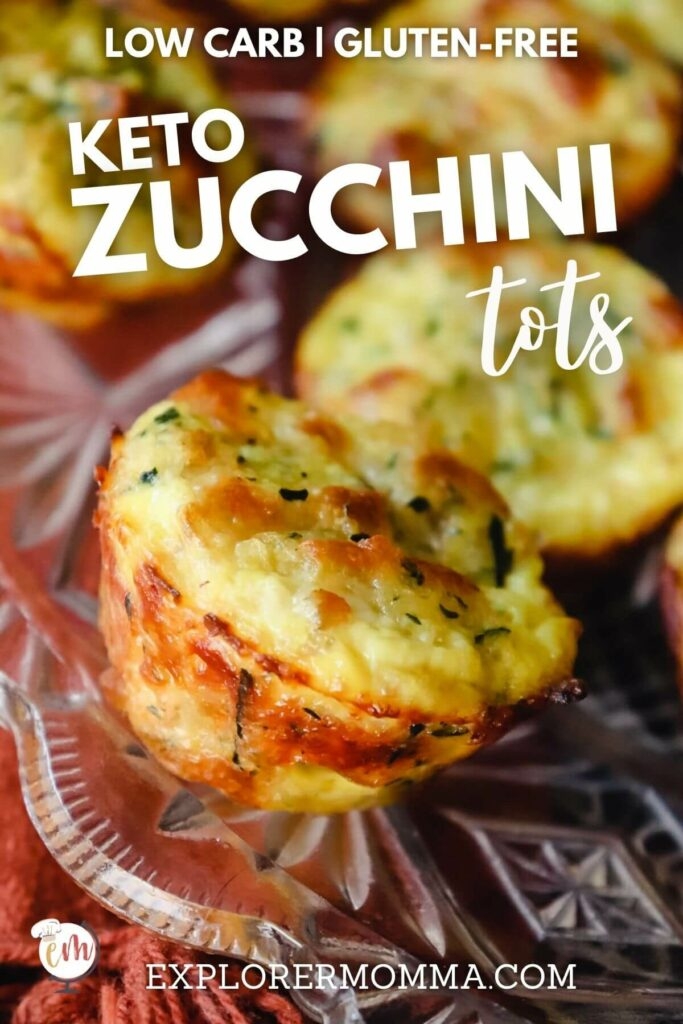 Keto zucchini tot on a plate