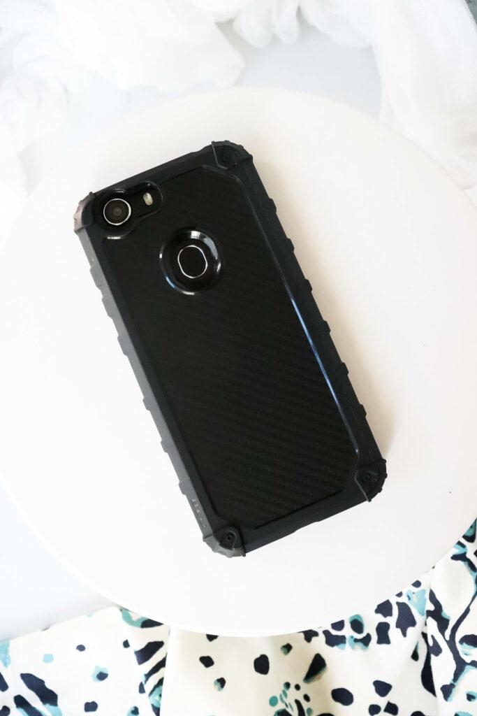 Back of the Blu Slim phone
