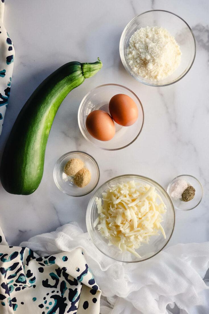 Keto zucchini tots ingredients